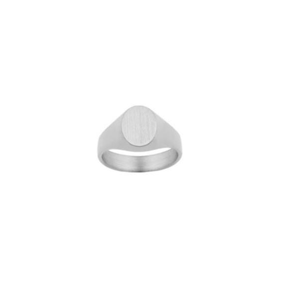 Chevalière Sacha Or 18 carats gris - La Petite Française