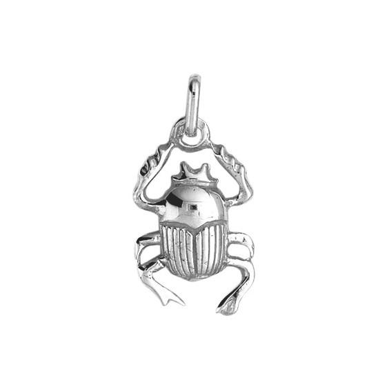 Pendentif scarabée Or 18 carats gris - La Petite Française