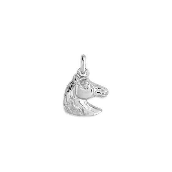 Pendentif tête de cheval Or 18 carats gris 19 MM - La Petite Française