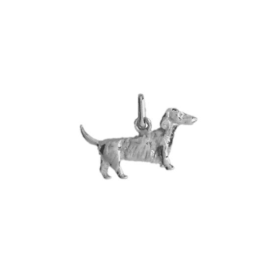 Pendentif chien Teckel Or 18 carats gris - 13 MM - La Petite Française