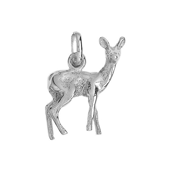Pendentif biche Or 18 carats gris - La Petite Française