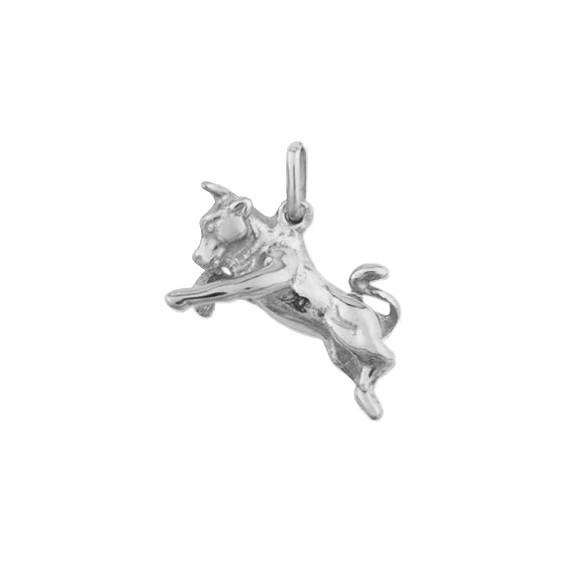 Pendentif taureau Or 18 carats gris - La Petite Française