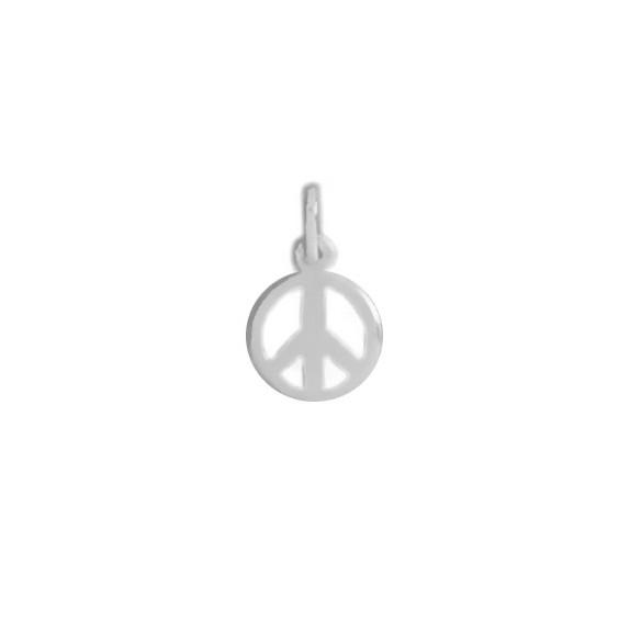 Pendentif Peace and Love Or 18 carats gris - La Petite Française