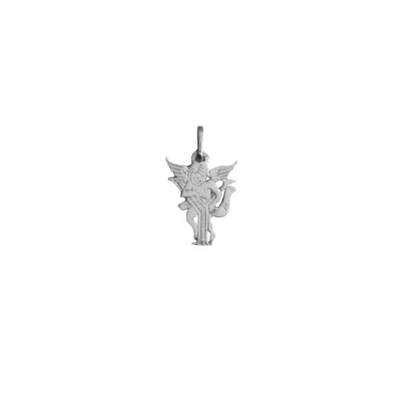 Pendentif ange lettre Y Or 18 carats gris - La Petite Française