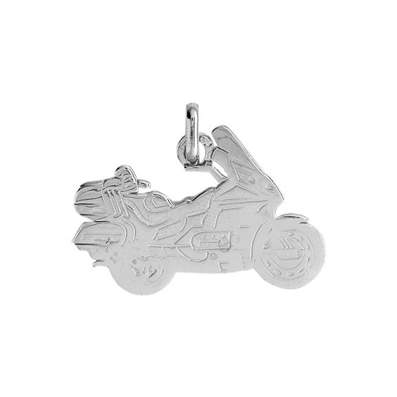 Pendentif moto Goldwing Or 9 carats gris - La Petite Française