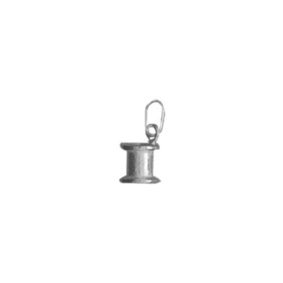 Pendentif bobine de fil Or 9 carats gris - La Petite Française