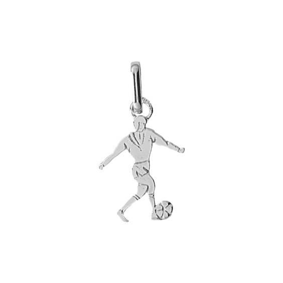 Pendentif footballeur Or 9 carats gris - La Petite Française