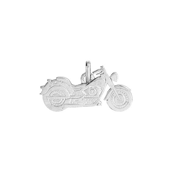 Pendentif moto custom Or 9 carats gris - La Petite Française