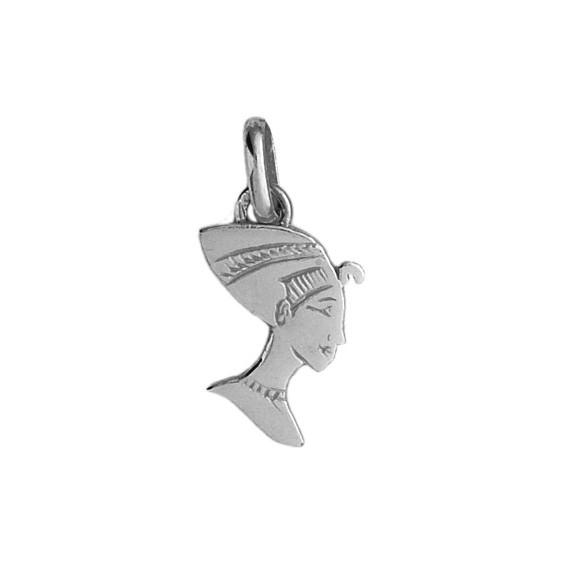 Pendentif Néfertiti Or 9 carats gris - La Petite Française