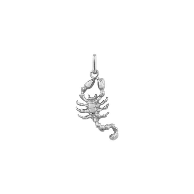 Pendentif scorpion Or 9 carats gris - La Petite Française