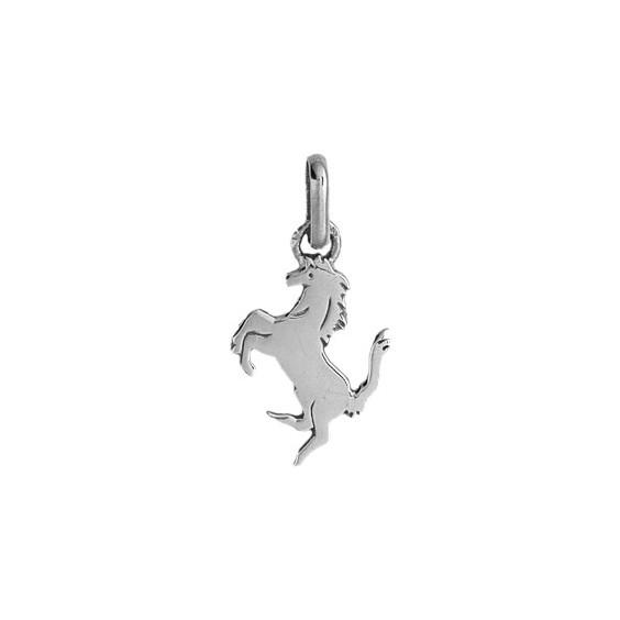 Pendentif cheval cabré Or 9 carats gris - La Petite Française