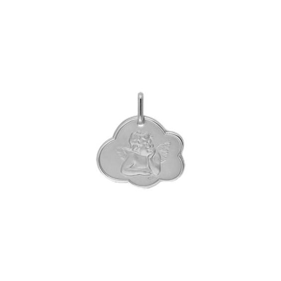Médaille ange de Raphaël nuage Or 9 carats gris - La Petite Française