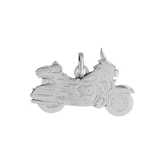 Pendentif moto Harley Davidson Or 9 carats gris - La Petite Française