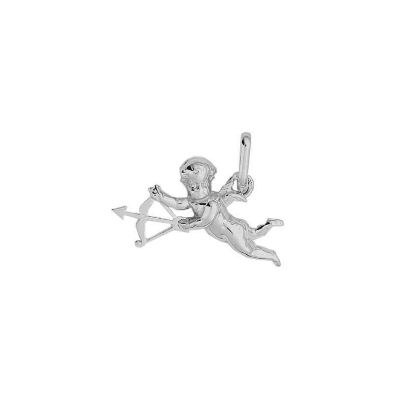 Pendentif ange Cupidon Or 9 carats gris - La Petite Française