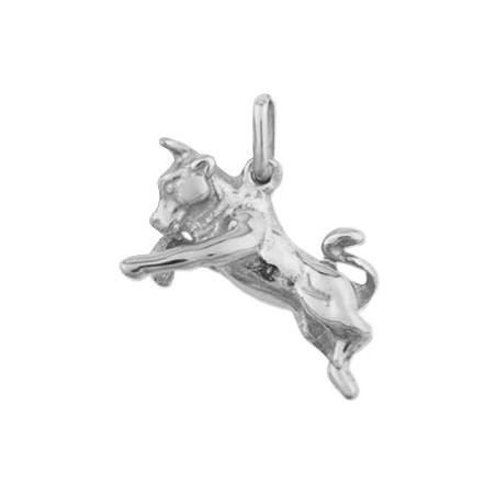Pendentif taureau Or 9 carats gris - La Petite Française