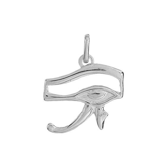 Pendentif oeil d'Horus Or 9 carats gris - La Petite Française