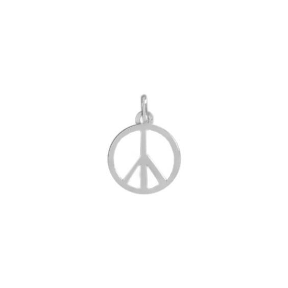 Pendentif Peace and Love Or 9 carats gris - La Petite Française