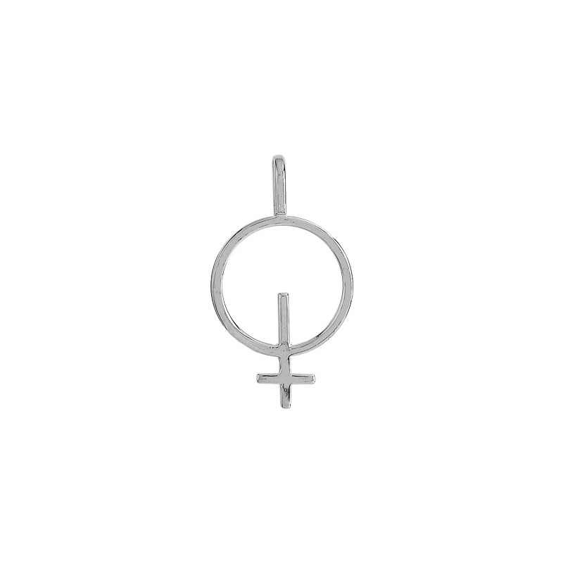 Pendentif symbole féminin or 9 carats gris - La Petite Française