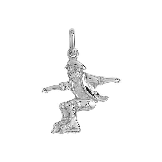 Pendentif patineur à rollers or 9 carats gris - La Petite Française