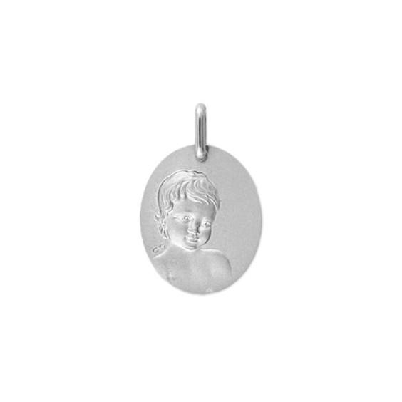 Médaille enfant Or 9 carats gris - La Petite Française