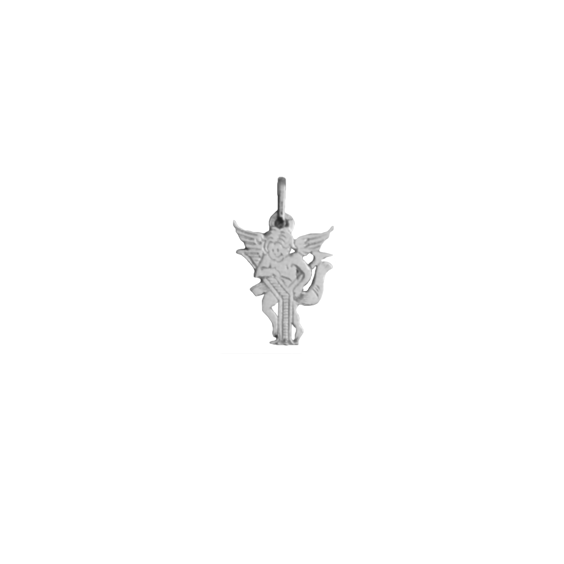 Pendentif ange lettre Y Or 9 carats gris - La Petite Française