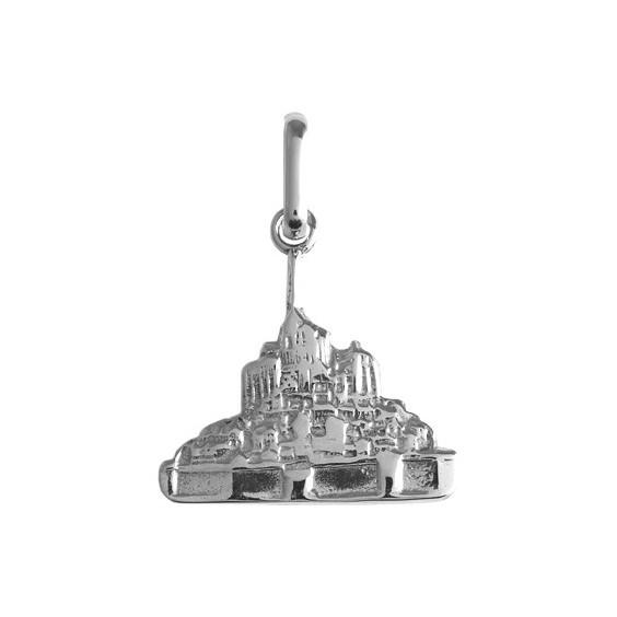 Pendentif Mont Saint-Michel Or 9 carats gris - La Petite Française