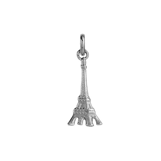 Pendentif tour Eiffel Or 9 carats gris - 25 MM - La Petite Française