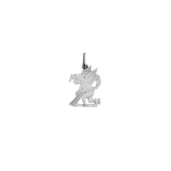 Pendentif ange lettre Z Or 9 carats gris - La Petite Française