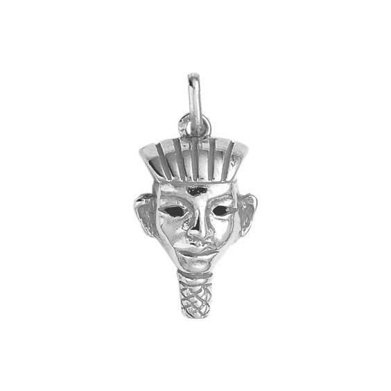 Pendentif masque Pharaon Or 9 carats gris - La Petite Française