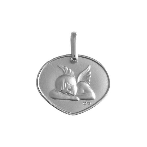 Médaille triangle ange Or 9 carats gris - La Petite Française