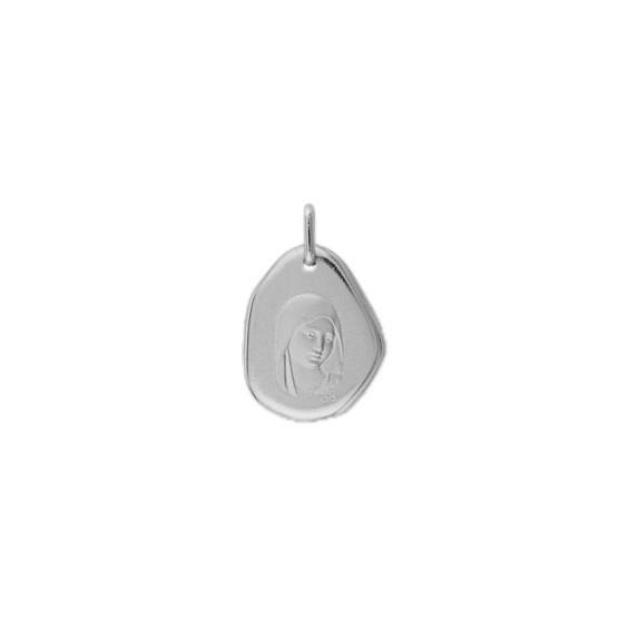 Médaille Sainte-Vierge Or 9 carats gris - La Petite Française