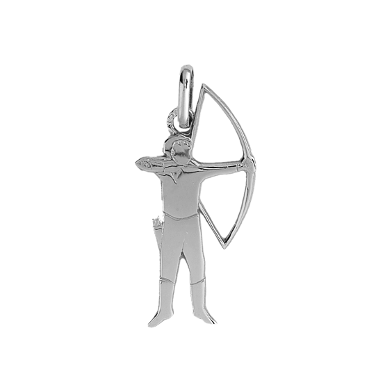 Pendentif archer or 9 carats gris - La Petite Française