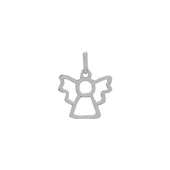 Pendentif ange découpé Or 9 carats gris - La Petite Française