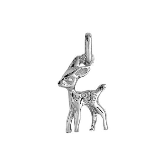 Pendentif faon Or 9 carats gris - La Petite Française