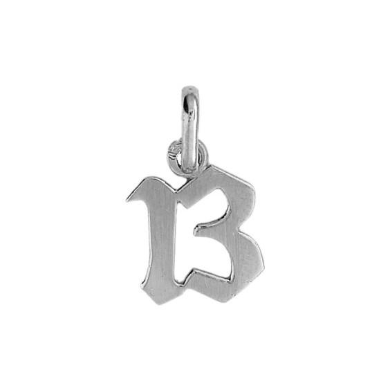 Pendentif nombre 13 Or 9 carats gris - La Petite Française