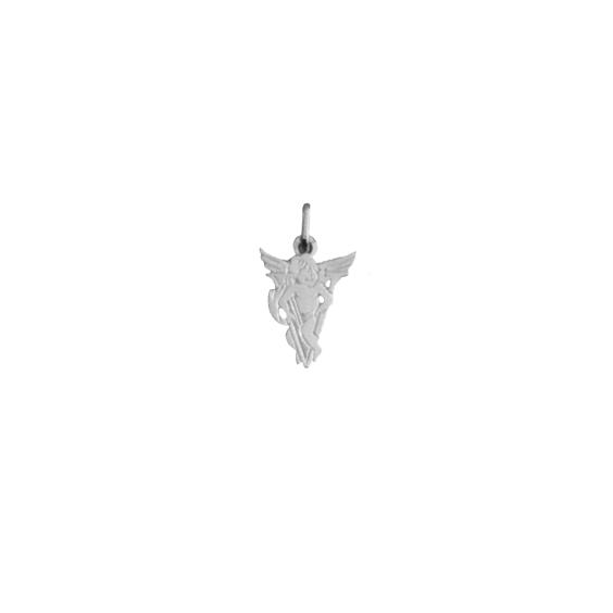 Pendentif ange lettre V Or 9 carats gris - La Petite Française