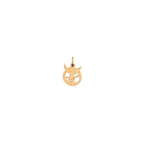 Pendentif ange lettre O Or 9 carats jaune - La Petite Française