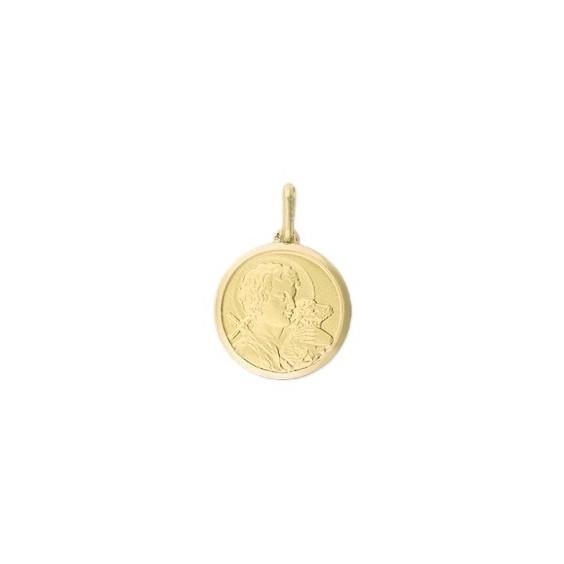 Médaille Saint Jean-Baptiste - 20 mm - Or 9 carats jaune - La Petite Française