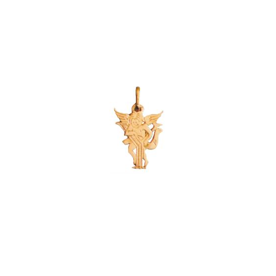 Pendentif ange lettre Y Or 9 carats jaune - La Petite Française
