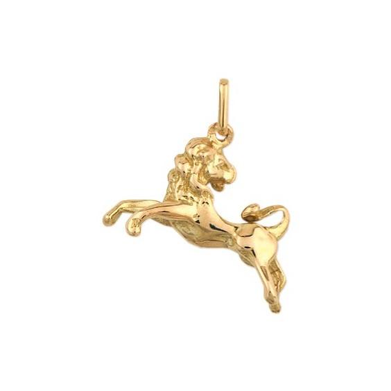 Pendentif lion Or 9 carats jaune - La Petite Française