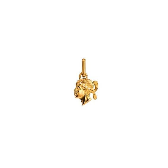 Pendentif tête de Maure diamants et Or 9 carats jaune - La Petite Française