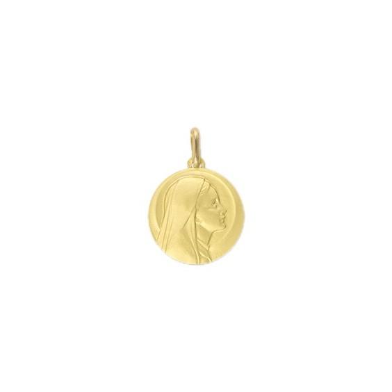 Médaille Sainte-Vierge - 18 mm - Or 9 carats jaune - La Petite Française