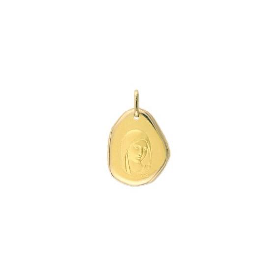 Médaille Sainte-Vierge Or 9 carats jaune - La Petite Française