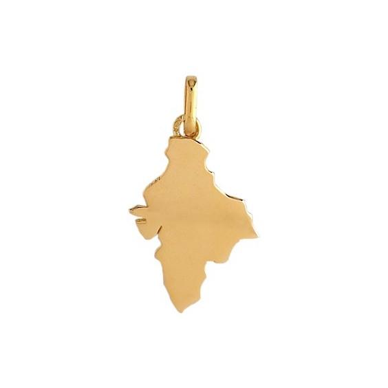 Pendentif carte de l'Inde Or 9 carats jaune - La Petite Française