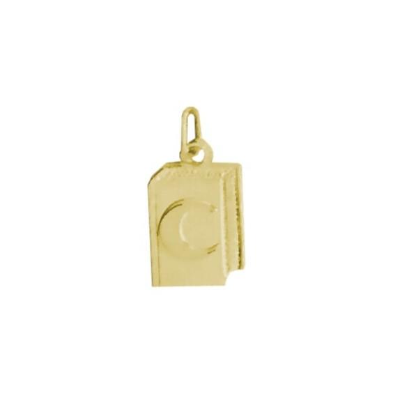 Pendentif Coran Or 9 carats jaune - La Petite Française