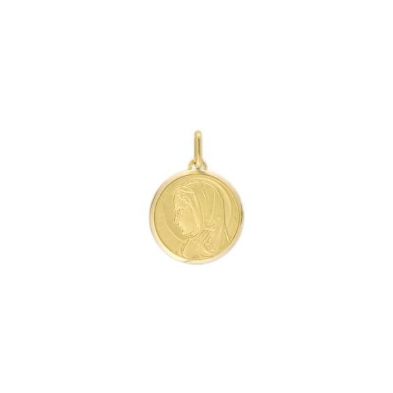 Médaille Sainte-Vierge - 16 mm - Or 9 carats jaune - La Petite Française