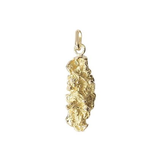Pendentif pépite Or 9 carats jaune- 36 MM - La Petite Française