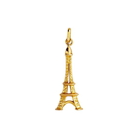 Pendentif tour Eiffel Or 9 carats jaune - 35 MM - La Petite Française