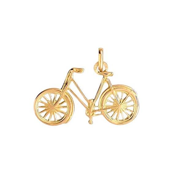Pendentif vélo de route Or 9 carats jaune - La Petite Française