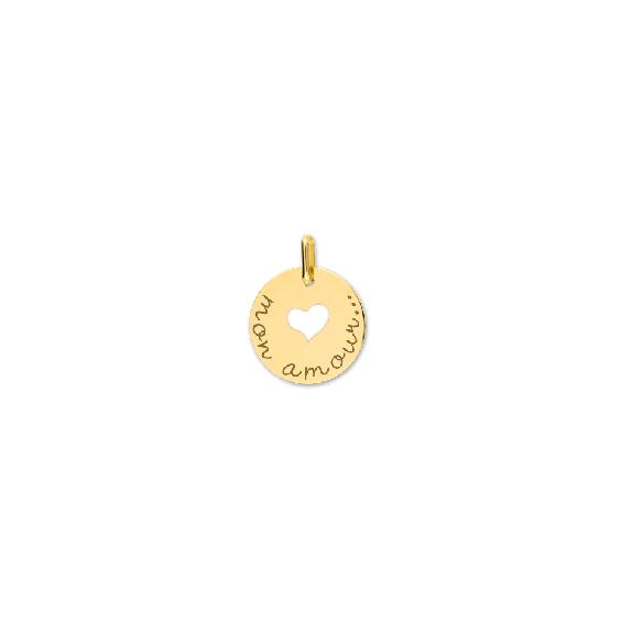 Pendentif Mon amour Or 9 carats jaune - La Petite Française